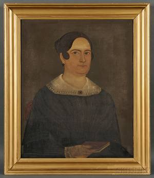 Sturtevant Hamblen MaineMassachusetts fl 18371856 Portrait of a Woman Holding a Red Book