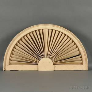 Whitepainted Demilune Architectural Fan Light