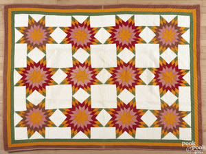 Pieced star pattern quilt late 19th c