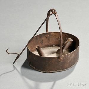 Sheet Iron Hanging Pan Lamp