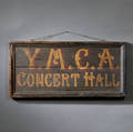 Paintdecorated Doublesided YMCA CONCERT HALL Sign