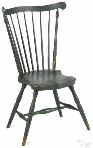 Pennsylvania fanback Windsor side chair early 19th c
