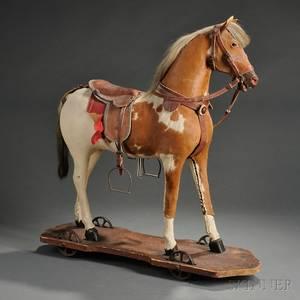 Painted Palomino Hobby Horse