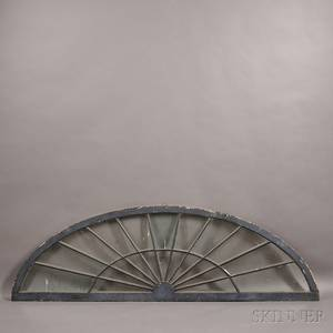 Large Blackpainted Architectural Fan Light