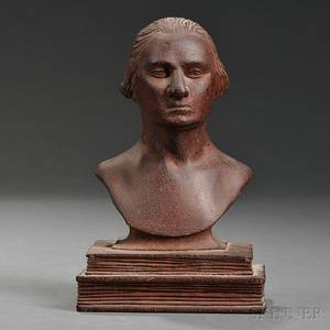 Small Carved Mahogany Bust of George Washington