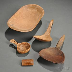 Group of Early Woodenware