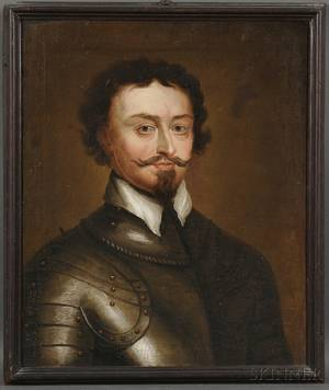 After Sir Anthony van Dyck Flemish 15991641 Portrait of Thomas Wentworth 1st Earl of Strafford