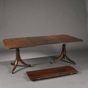 George III Mahogany Doublepedestal Dining Table