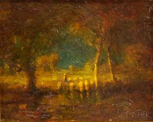 Henry Hammond Ahl American 18691953 Late Afternoon Autumn