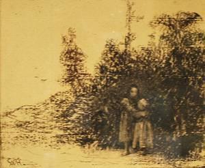 William Morris Hunt American 18241879 Children at the Edge of a Copse