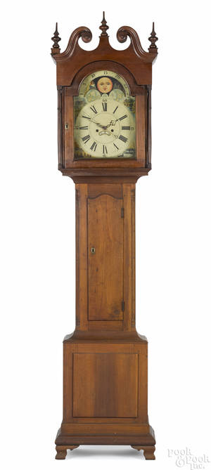 Pennsylvania Chippendale walnut tall case clock ca 1780