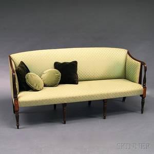 Federalstyle Inlaid Mahogany Upholstered Sofa