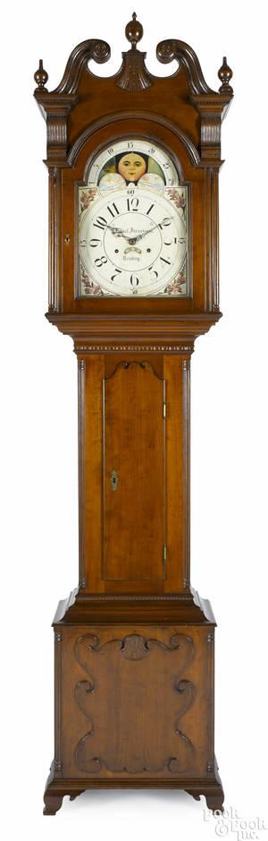 Berks County Pennsylvania cherry tall case clock ca 1810
