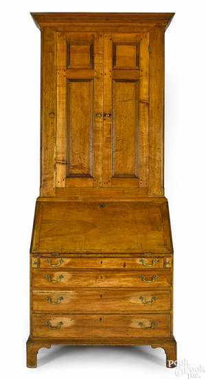 Southern Chippendale maple secretary desk ca 1770