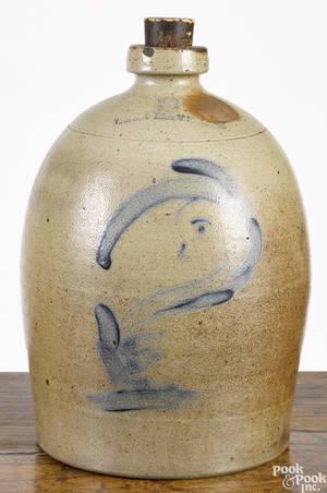 Rare Pennsylvania stoneware jug 19th c