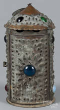 Bradley and Hubbard punched copper candle lantern