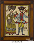 Five contemporary prints of folk art paintings