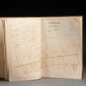 Rhode Island Newport and Providence Atlases and Other Books Seven Volumes