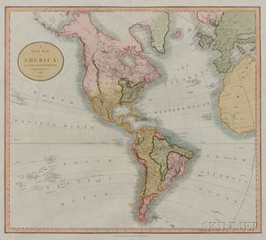 North and South America John Cary c 17541835 A New Map of America