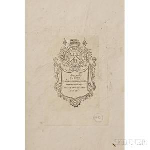 Wilson Alexander 17661813 American Ornithology Volumes I II III and V Ex Dono Thomas Hollis Ex Libris Harva