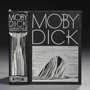 Melville Herman 18191891 Moby Dick Illustrated and Inscribed by Rockwell Kent 18821971