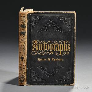 Grant Ulysses S 18221885 Autograph Album Containing His Signature and those of Associated Political Figures