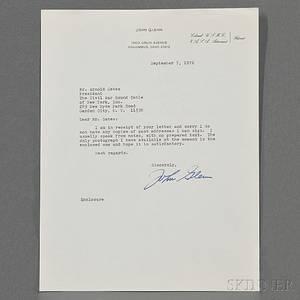 Glenn John b 1921 Typed Letter Signed 7 September 1972