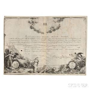 Washington George 17321799 Printed Document on Parchment Signed