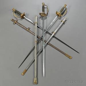Three Model 1860 Staff amp Field Officers Swords