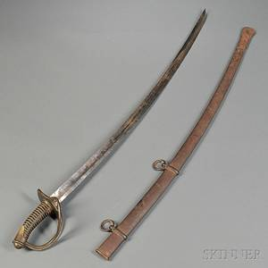 Model 1840 Cavalry Saber and Scabbard