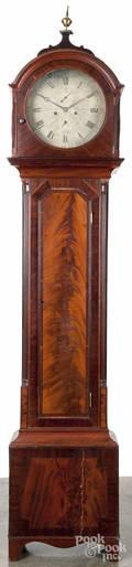 Scottish mahogany tall case clock