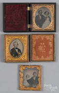 Three ambrotype portraits