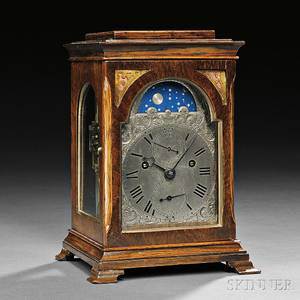 Yonge  Son Rosewoodveneered Quarterstriking Miniature Table Clock