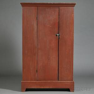 Redpainted Clothes Cupboard