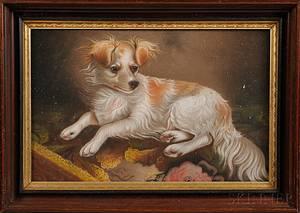 John J Enneking American 18411916 Portrait of a Spaniel