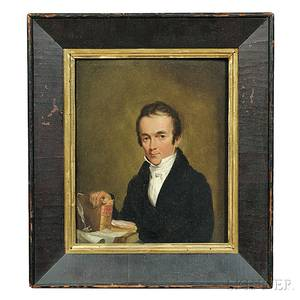 Attributed to Samuel FB Morse New YorkMassachusettsEngland 17911872 Portrait of a Minister