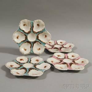 Set of Four Haviland Limoges Porcelain Oyster Plates