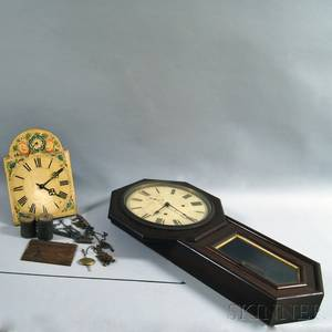 Seth Thomas World Clock and a Wagonwall Clock