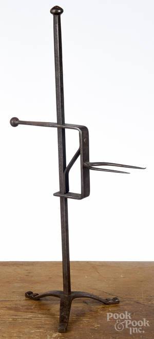 Wrought iron adjustable game spit