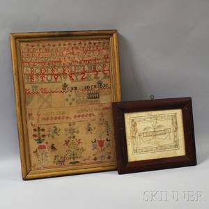 Tenny Birth Record and a Needlework Sampler