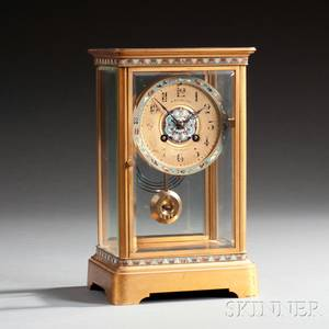 French Champleve Mantel Clock