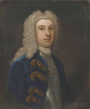 Continental School 18th Century Style Portrait of a Man