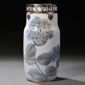 Royal Copenhagen Sterling Silvermounted Vase