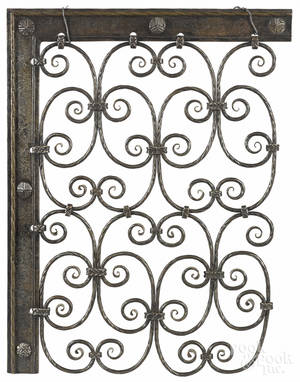 Arts and Crafts wrought iron gate sampler