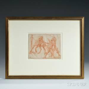 Manner of Pieter van Bloemen called Standard Flemish 16571720 Horse Trainers