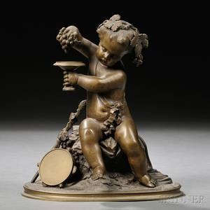 Continental School 19th20th Century Bronze Sculpture of the Young Bacchus