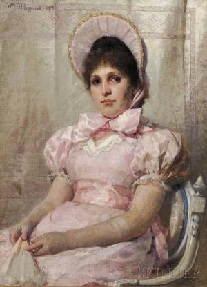 William Henry Lippincott American 18491920 Portrait of a Seated Woman in Pink