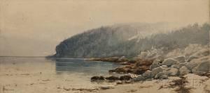 Alfred Thompson Bricher American 18371908 Coastal Landscape Probably Maine