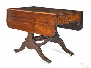 Philadelphia or New York Federal mahogany library table ca 1815