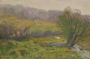 Frank Knox Morton Rehn American 18481914 Spring Landscape